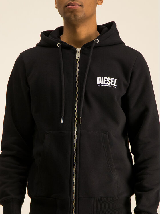 Diesel Diesel Bluza S-Gir 00SAV1 0BAWT Czarny Regular Fit