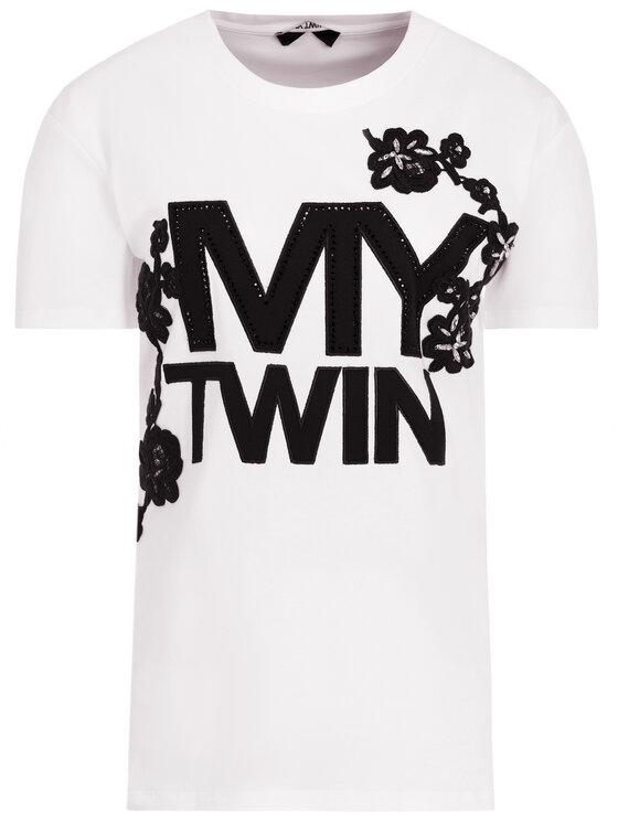 My Twin My Twin T-Shirt 201MP235H Λευκό Regular Fit