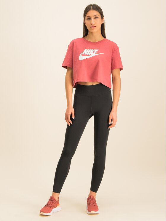 NIKE NIKE Legíny AT1102 Čierna Regular Fit