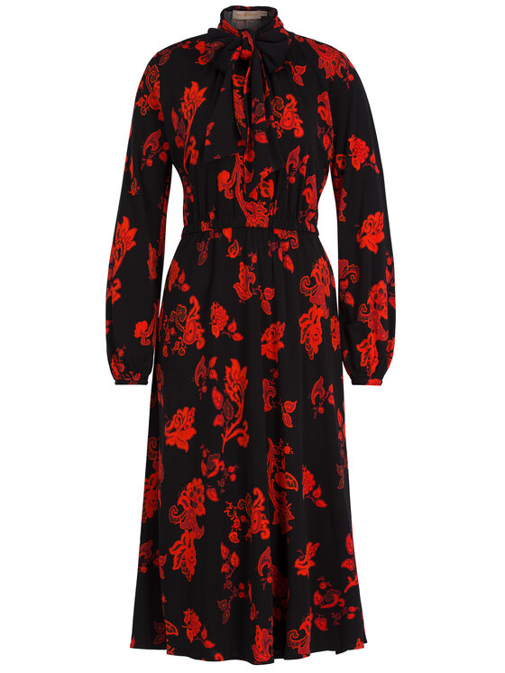 Tory Burch Tory Burch Koktejlové šaty Jersey Bow Dress 57411 Čierna Regular Fit