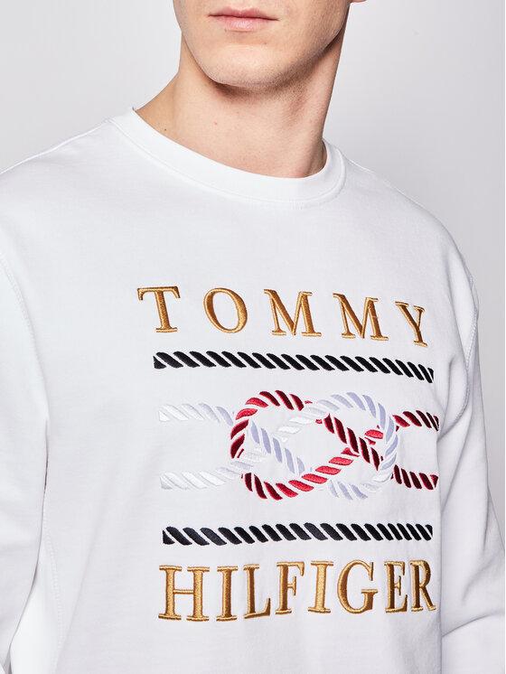 Tommy Hilfiger Tommy Hilfiger Bluza Icon MW0MW13053 Biały Regular Fit