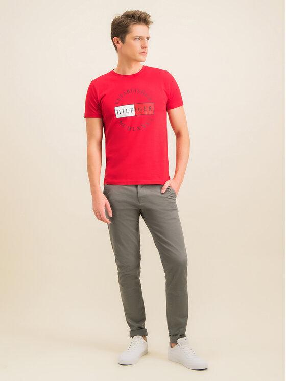 Tommy Hilfiger Tommy Hilfiger T-Shirt Corp Circular Tee MW0MW12532 Κόκκινο Regular Fit