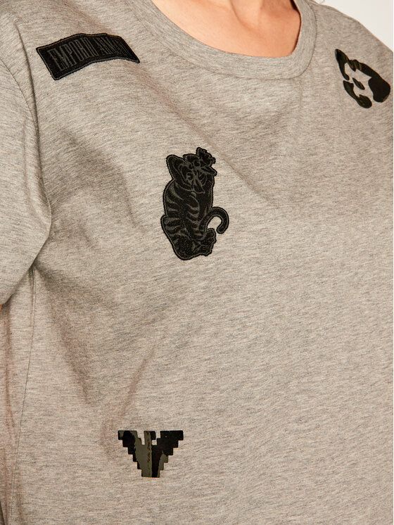 Emporio Armani Emporio Armani T-Shirt 6G2T7M 2J95Z 0616 Szary Regular Fit