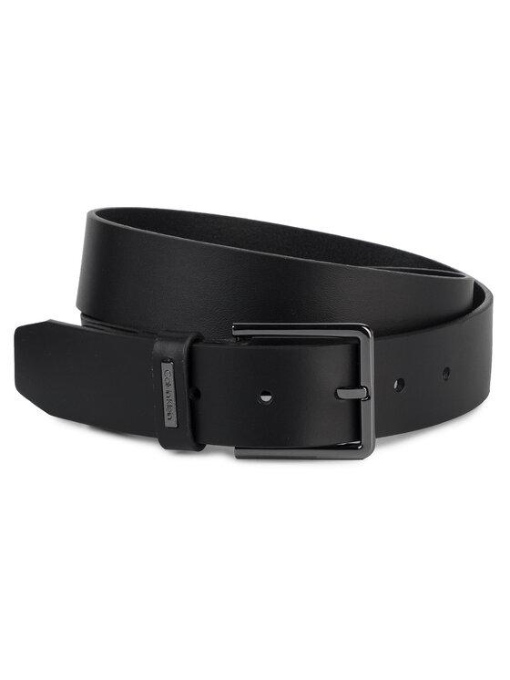 Calvin Klein Calvin Klein Cintura da uomo 3.5Cm Adj.Metal Plate Belt K50K504887 Nero