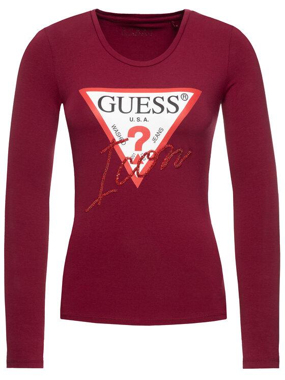 Guess Guess Μπλουζάκι W94I88 K7DE0 Μωβ Regular Fit
