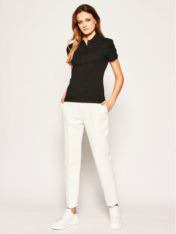 Lacoste Lacoste Тениска с яка и копчета PF5462 Черен Slim Fit