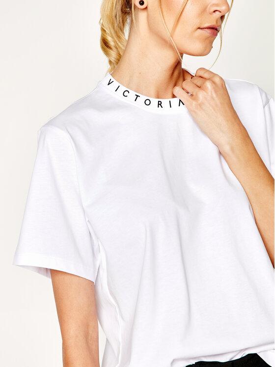 Victoria Victoria Beckham Victoria Victoria Beckham Póló Jersey 2120JTS000446A Fehér Regular Fit