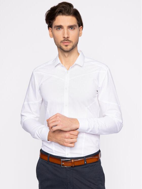 Hugo Hugo Marškiniai Emery 50425910 Balta Extra Slim Fit
