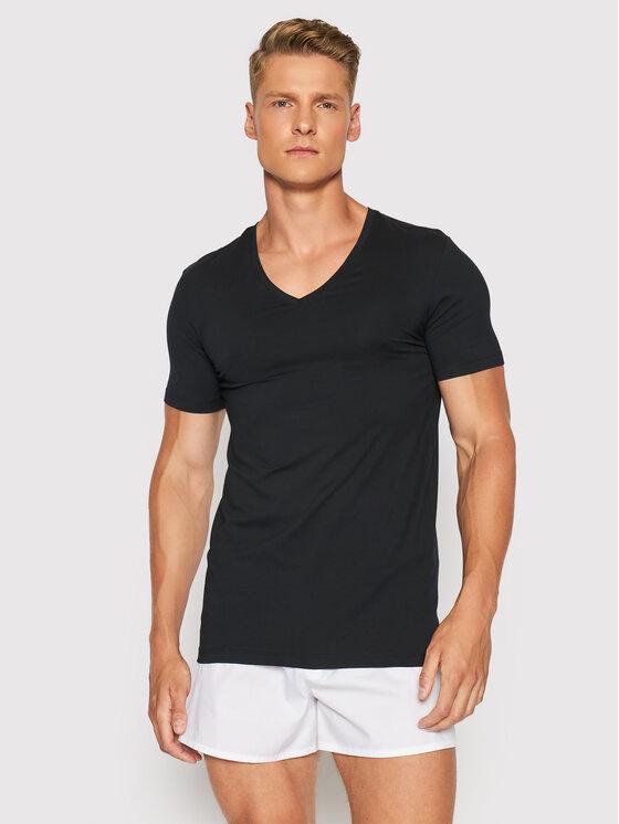 Hanro Apatiniai marškinėliai Superior 3089 Juoda Slim Fit