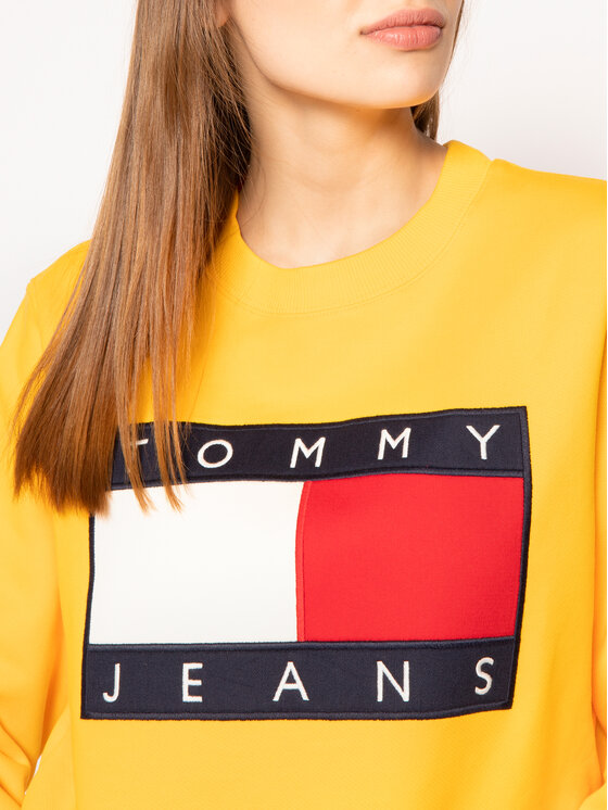 Tommy Jeans Tommy Jeans Μπλούζα Tjw Flag Crew DW0DW07414 Κίτρινο Regular Fit