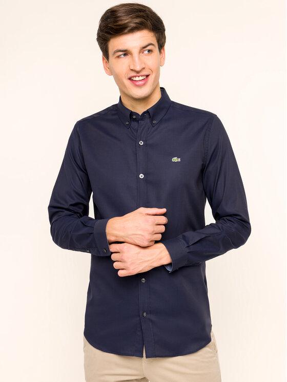 Lacoste Lacoste Marškiniai CH2041 Tamsiai mėlyna Slim Fit