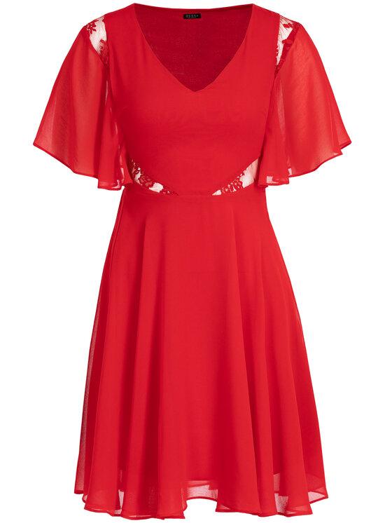 Guess Guess Sukienka letnia W93K80 W8SL0 Czerwony Regular Fit
