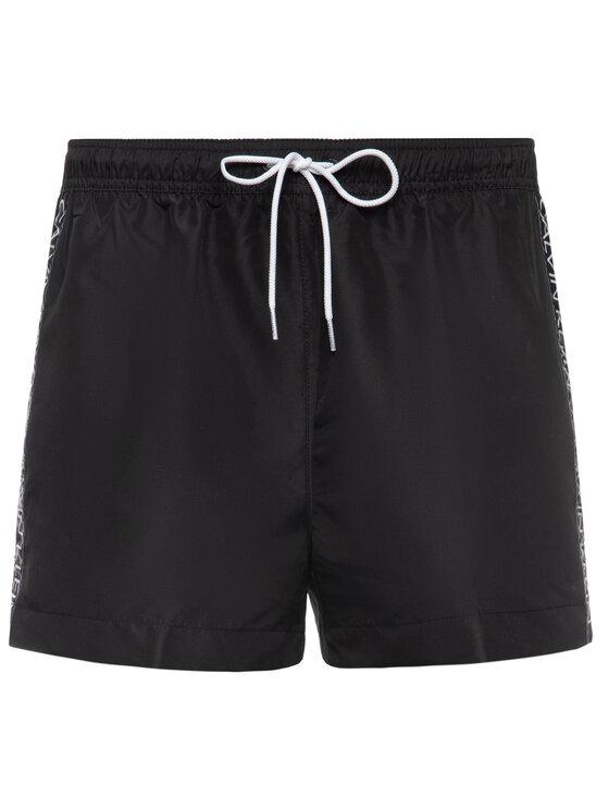 Calvin Klein Swimwear Calvin Klein Swimwear Pantaloncini da bagno Drawstring KM0KM00457 Nero Regular Fit