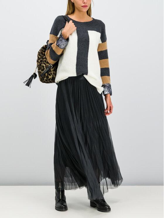 Laurèl Laurèl Spódnica plisowana 72015 Czarny Regular Fit