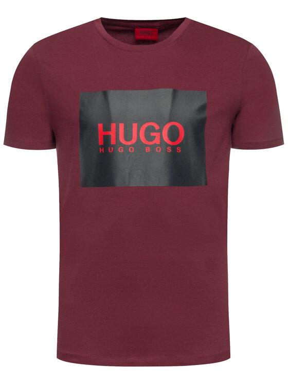 Hugo Hugo T-Shirt Dolive201 50422155 Μπορντό Regular Fit