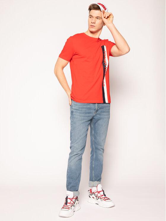 Tommy Hilfiger Tommy Hilfiger Marškinėliai Crew Neck UM0UM01744 Raudona Regular Fit