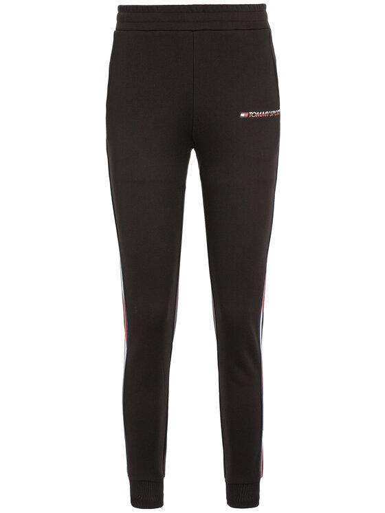 Tommy Sport Tommy Sport Pantaloni da tuta Fleece S10S100409 Nero Regular Fit