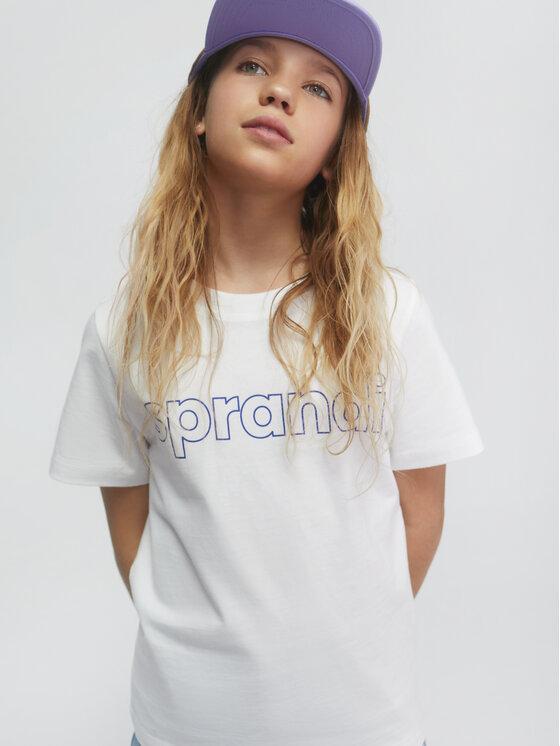 Sprandi Sprandi T-Shirt SS21-TSB001 Biały Regular Fit