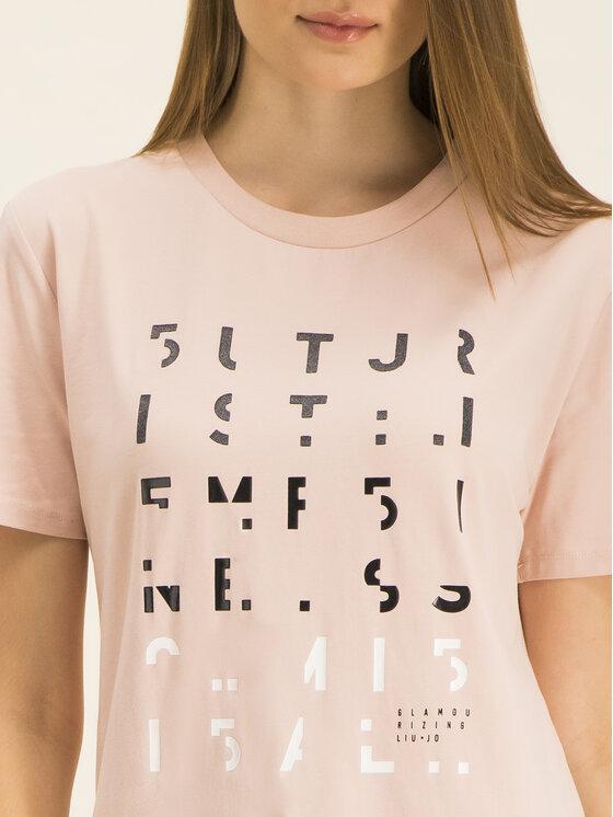 Liu Jo Sport Liu Jo Sport T-Shirt T69130 J0088 Różowy Regular Fit