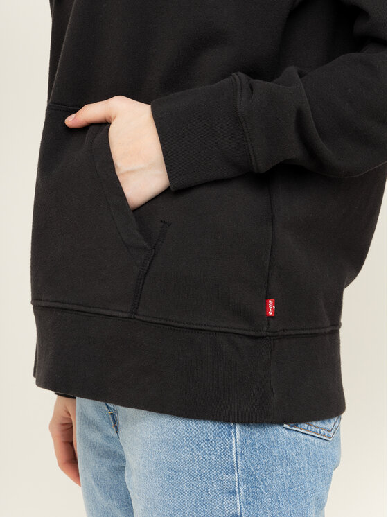 Levi's® Levi's® Bluza Graphic Sport Hoodie Meteorite 35946-0144 Czarny Regular Fit
