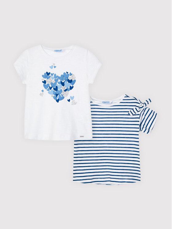 Mayoral 2 marškinėlių komplektas 3009 Balta Regular Fit