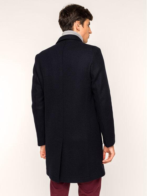 Roy Robson Roy Robson Μάλλινο παλτό 1985-98 Σκούρο μπλε Slim Fit