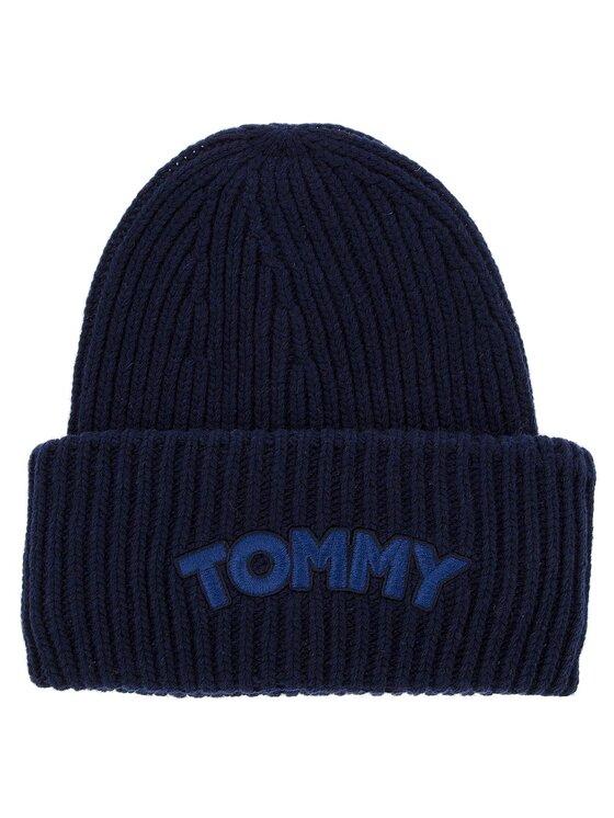 Tommy Hilfiger Tommy Hilfiger Σκούφος Logo Patch Beanie AW0AW05942 Σκούρο μπλε
