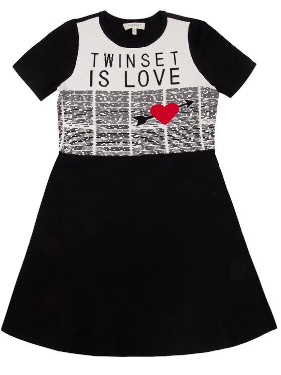 TwinSet TwinSet Φόρεμα καθημερινό 192GJ3161 Μαύρο Regular Fit