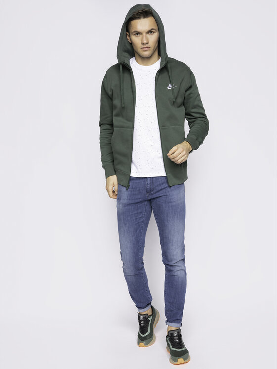 Nike Nike Bluza Sportswear Club Fleece BV2645 Zielony Standard Fit