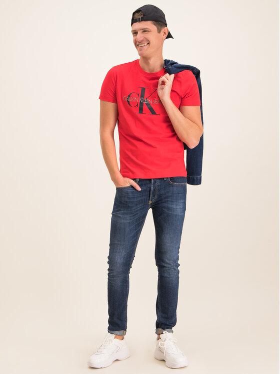 Calvin Klein Jeans Calvin Klein Jeans Marškinėliai J30J314551 Raudona Regular Fit