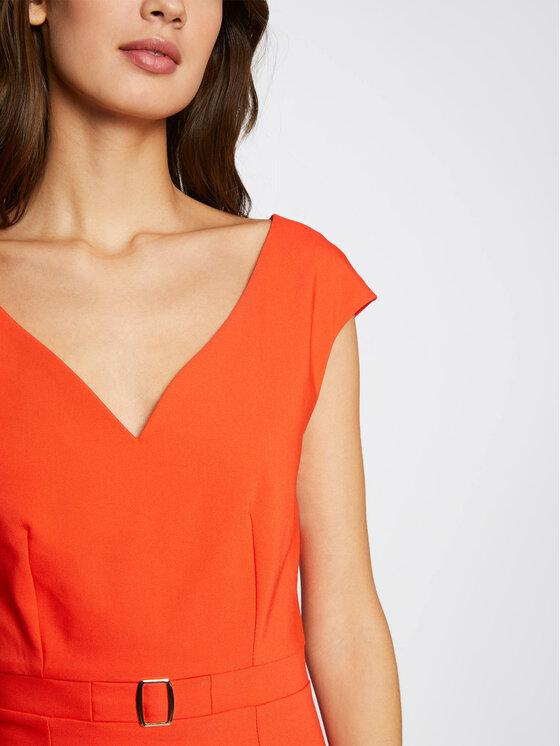 Morgan Morgan Sukienka koktajlowa 211-RDOTIE.F Pomarańczowy Slim Fit