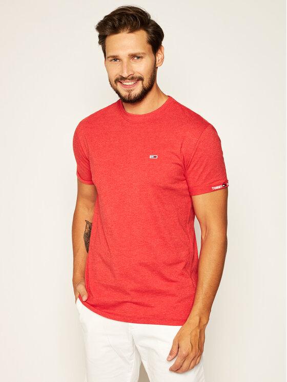 Tommy Jeans Tommy Jeans T-Shirt Tjm Texture Detail Tee DM0DM07812 Κόκκινο Regular Fit
