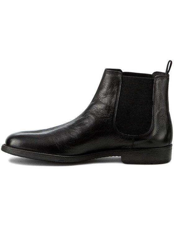 Geox Geox Členková obuv s elastickým prvkom U Jaylon E U54Y7E 00046 C9999 Čierna
