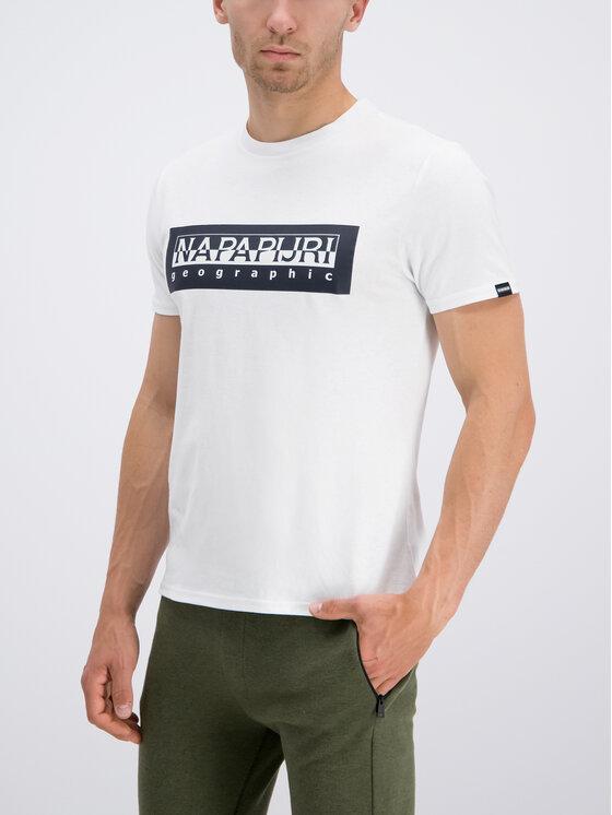 Napapijri Napapijri T-shirt Sele N0YIEI Bianco Regular Fit