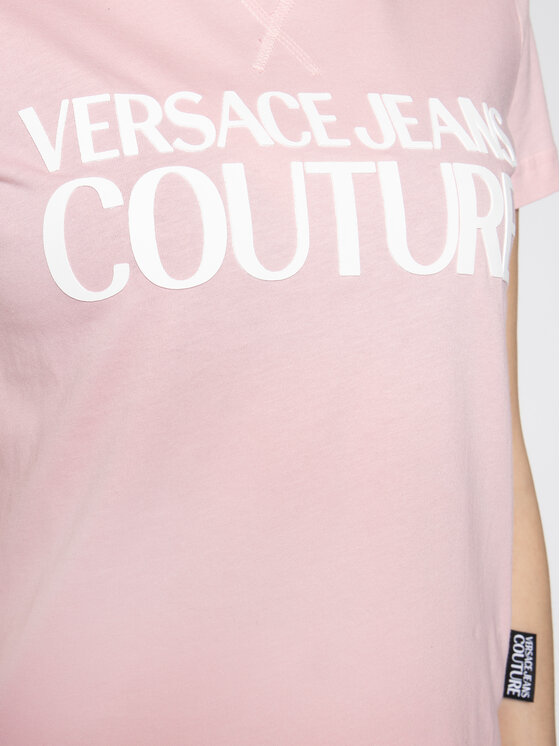 Versace Jeans Couture Versace Jeans Couture T-Shirt B2HVA7X0 Różowy Regular Fit