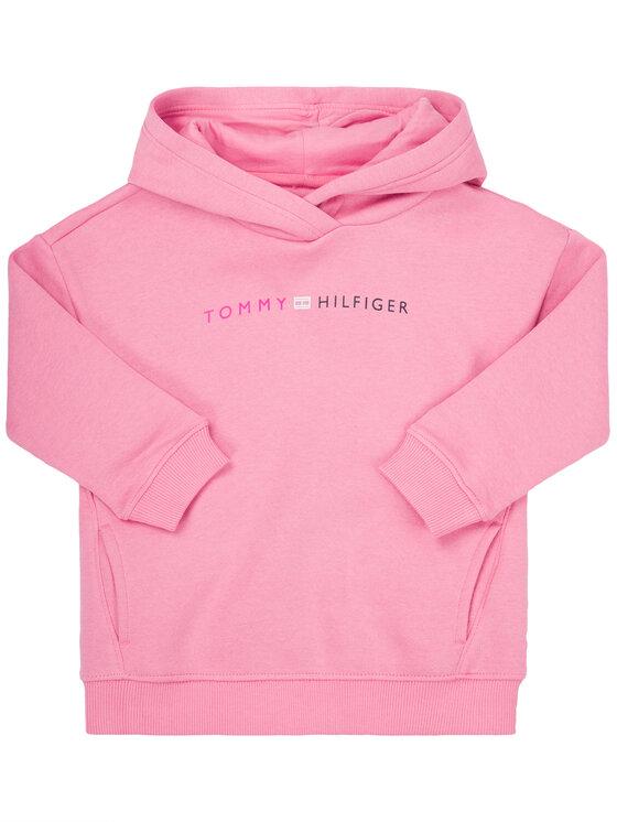 Tommy Hilfiger Bluza Essential Logo KG0KG04935 M Różowy Regular Fit