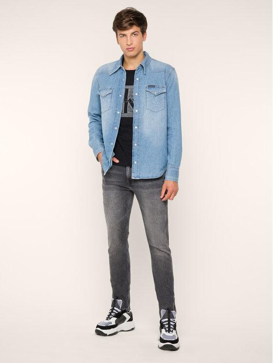 Calvin Klein Jeans Calvin Klein Jeans Marškinėliai Monogram Box J30J313270 Juoda Regular Fit