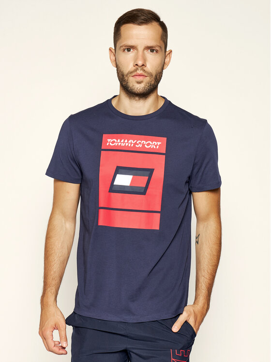 Tommy Sport Tommy Sport Tricou Graphic S20S200193 Bleumarin Regular Fit