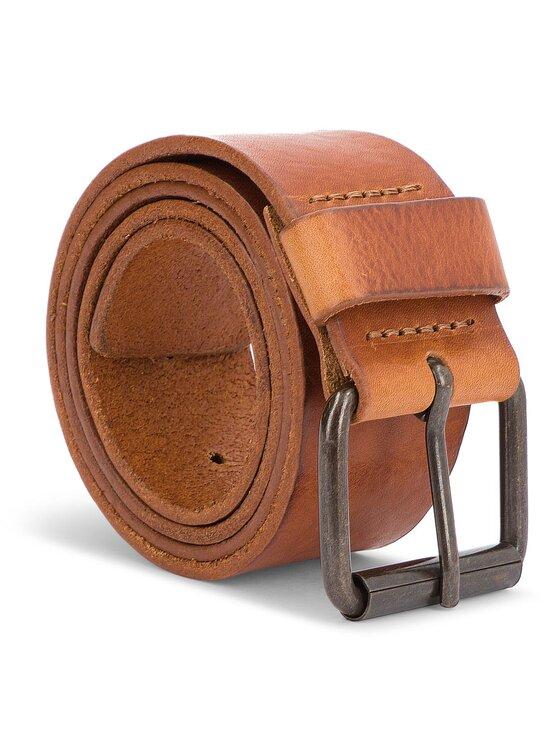 Wrangler Wrangler Pánsky opasok Rolla Belt W0B61U181 85 Hnedá