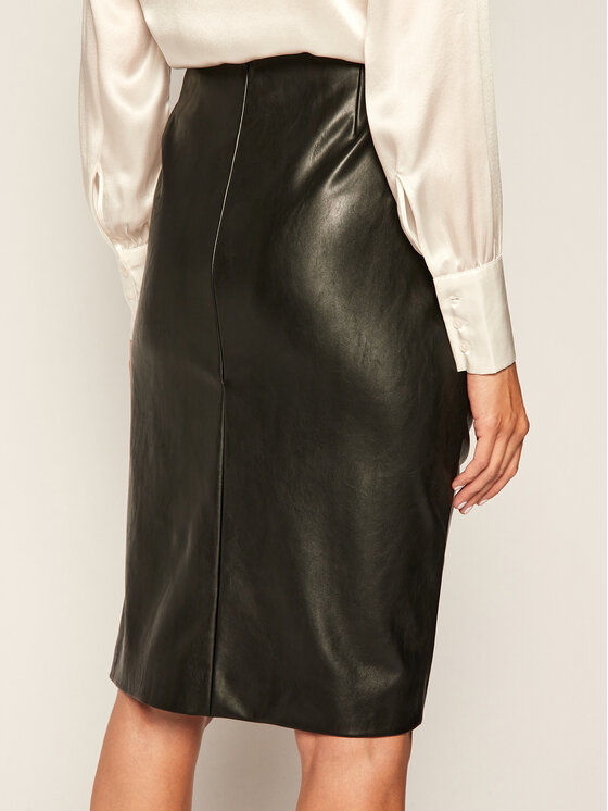 Joop! Joop! Kožená sukně 58 Js502 Fiore 30023421 Černá Slim Fit