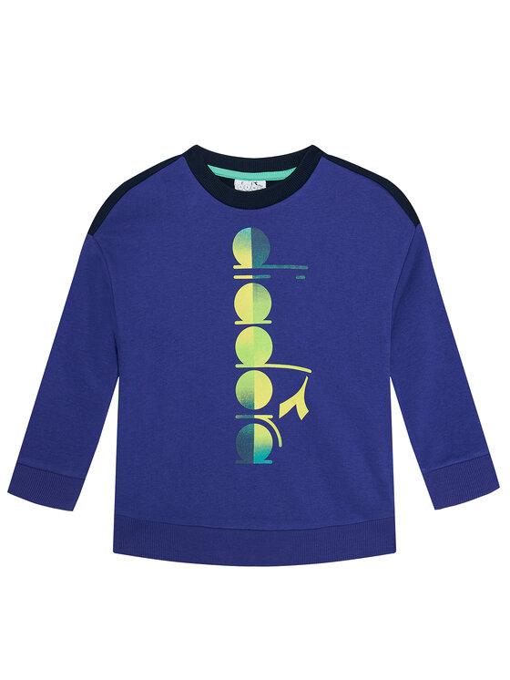Diadora Džemperis Jb. Sweatshirt Crew Diadora Club 102.177125 Tamsiai mėlyna Comfort Fit
