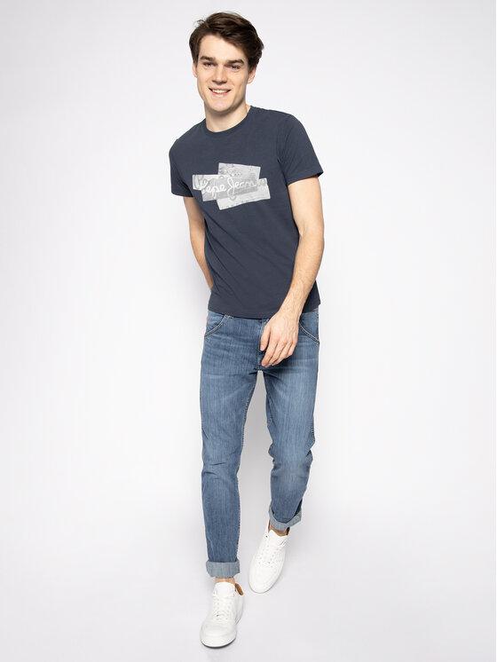 Pepe Jeans Pepe Jeans Póló Bobby PM506910 Sötétkék Slim Fit
