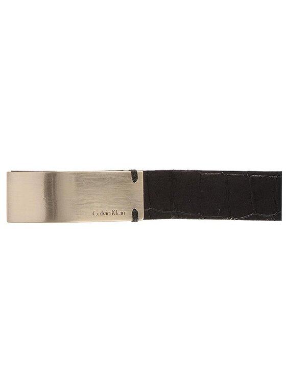 Calvin Klein Calvin Klein Дамски колан Curved Plaque Belt C 75 K60K603425 Черен