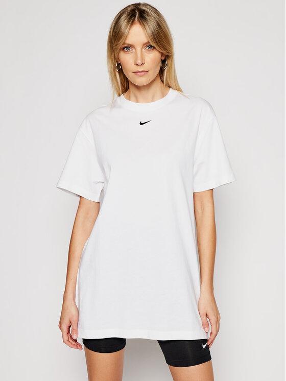 Nike Nike Haljina za svaki dan Sportswear Essential CJ2242 Bijela Loose Fit