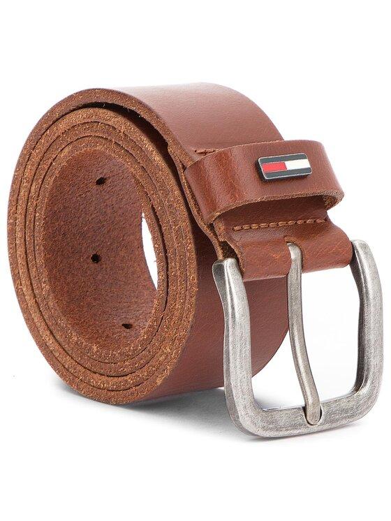 Tommy Jeans Tommy Jeans Мъжки колан Tjm Flag Loop Belt 4.0CM AM0AM02794 Кафяв