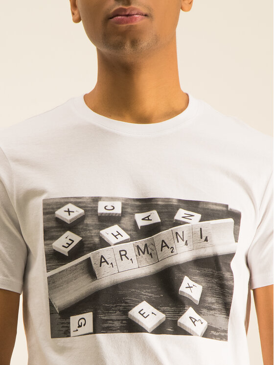 Armani Exchange Armani Exchange T-shirt 3HZTBC ZJ2HZ 1100 Blanc Regular Fit