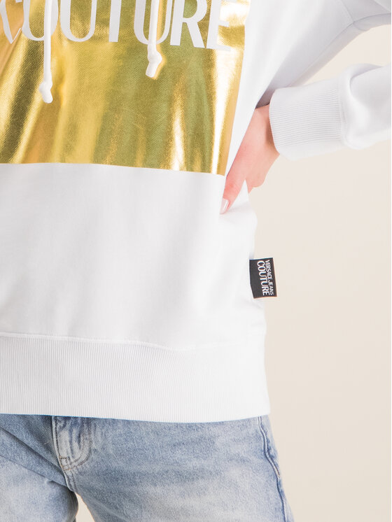 Versace Jeans Couture Versace Jeans Couture Džemperis B6HVA71T Balta Regular Fit