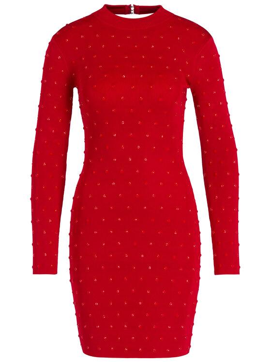 Marciano Guess Marciano Guess Коктейлна рокля 94G792 5036Z Червен Slim Fit