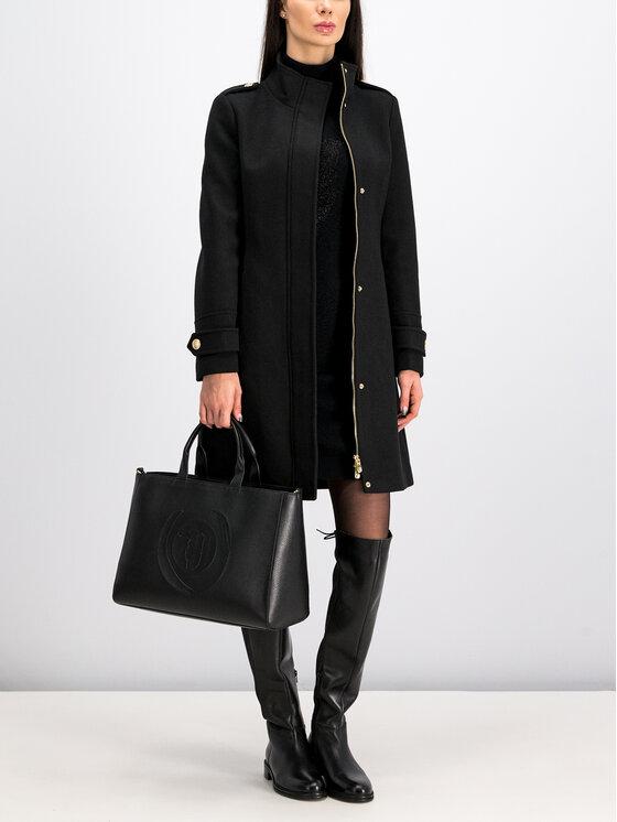 Trussardi Trussardi Вълнено палто 56S00399 Черен Regular Fit