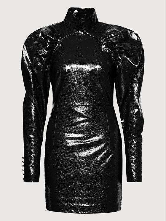ROTATE Dirbtinės odos suknelė Kim RT452 Juoda Regular Fit